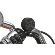 Černý bluetooth audio controller Kuryakyn Road Thunder® ovladač hudby na řídítka pro motocykl Indian Scout