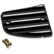 Černo stříbrné víčko přední nádobky brzdové kapaliny pro motocykl Indian Scout / Bobber od Joker Machine