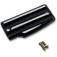 Černo stříbrné víčko zadní nádobky brzdové kapaliny pro motocykl Indian Scout / Bobber od Joker Machine