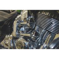 Chromová vzduchotlaková houkačka 128db - klakson (trumpety) pro motocykl Indian Chief / Chieftain / Roadmaster